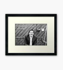 Sunshine happy groom Framed Print
