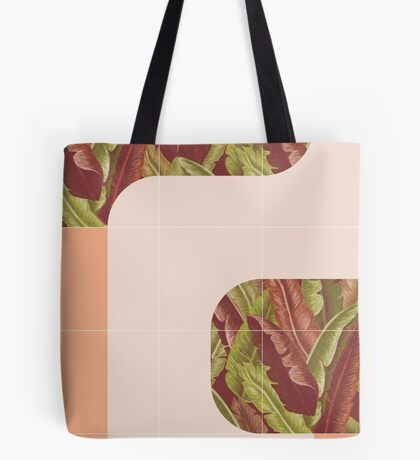 Mid-Century Tropical Mood #redbubble #tropical Tote Bag