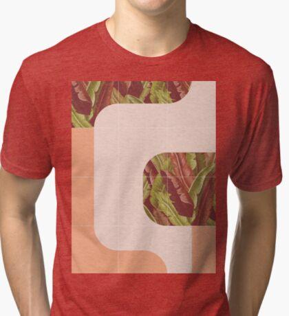 Mid-Century Tropical Mood #redbubble #tropical Tri-blend T-Shirt