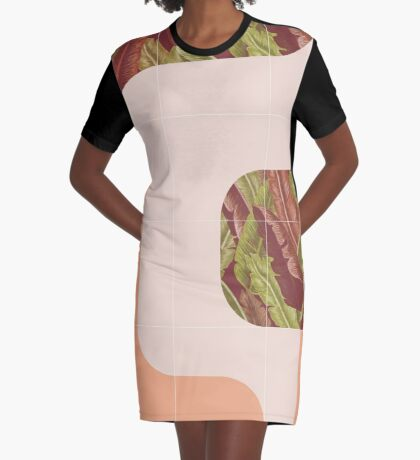 Mid-Century Tropical Mood #redbubble #tropical Graphic T-Shirt Dress