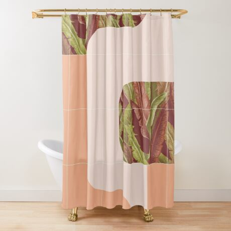Mid-Century Tropical Mood #redbubble #tropical Shower Curtain