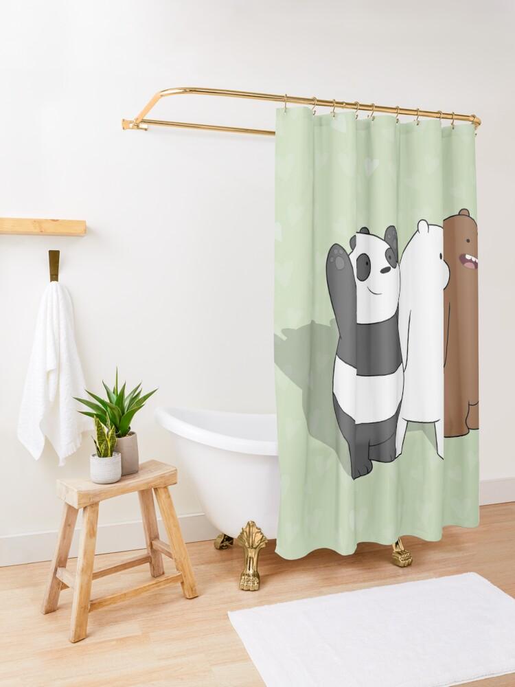 Alternate view of We Bare Bears  Shower Curtain