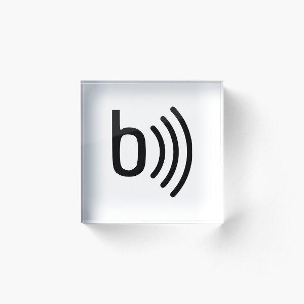 basslin.es logo Acrylic Block