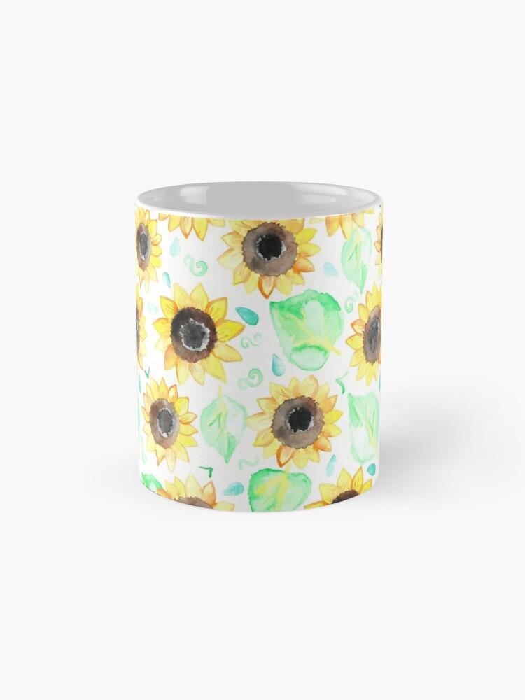 Alternative Ansicht von Fröhliche Aquarell Sonnenblumen Tasse