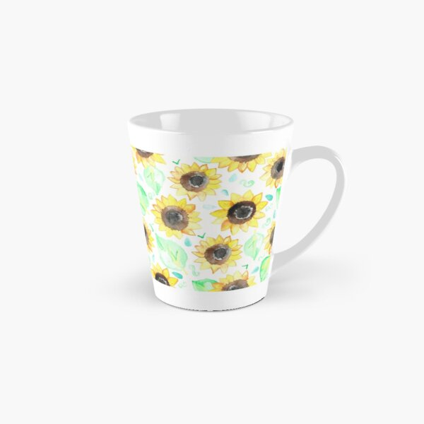 Cheerful Watercolor Sunflowers Tall Mug