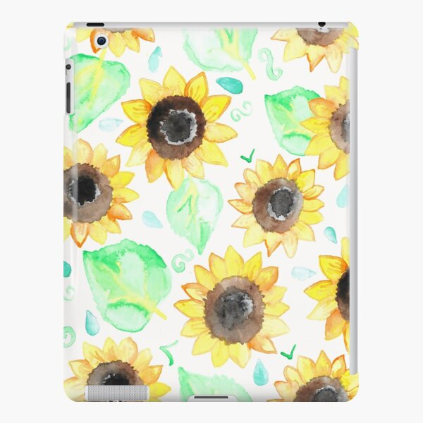 Cheerful Watercolor Sunflowers iPad Snap Case