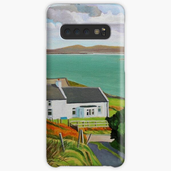 House By The Red Wildflowers Samsung Galaxy Snap Case