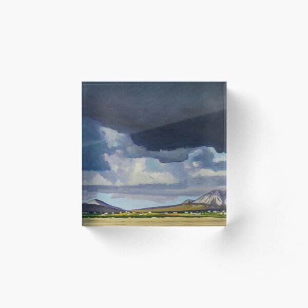 Brooding Clouds Over Errigal Acrylic Block