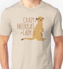 Crazy Meerkat Lady Slim Fit T-Shirt