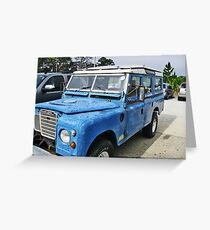 Land Rover On The Beach Greeting Card