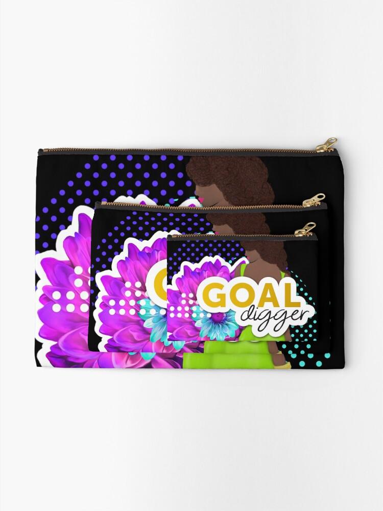 Alternate view of Goal Digger Zipper Pouch