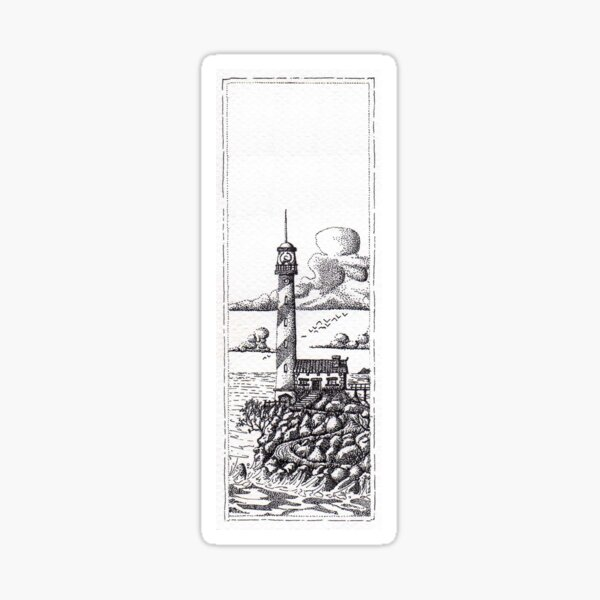 Lighthouse on a Cliff Bookmark Sticker