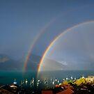 Rainbow on Lake Thun by Mark Howells-Mead