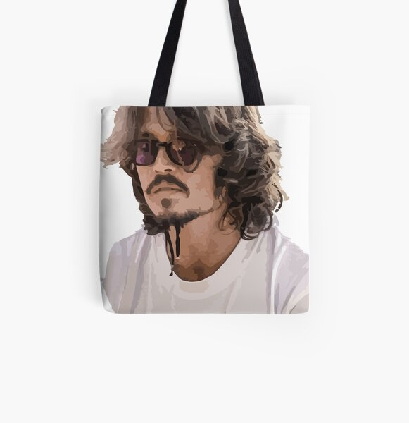 JOHNNY DEPP SMOKING FASHION COOL SHOPPING CANVAS TOTE BAG IDEAL GIFT PRESENT