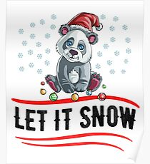 Christmas Let It Snow Poster