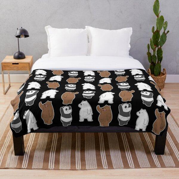 We Bare Bears  Pattern Throw Blanket