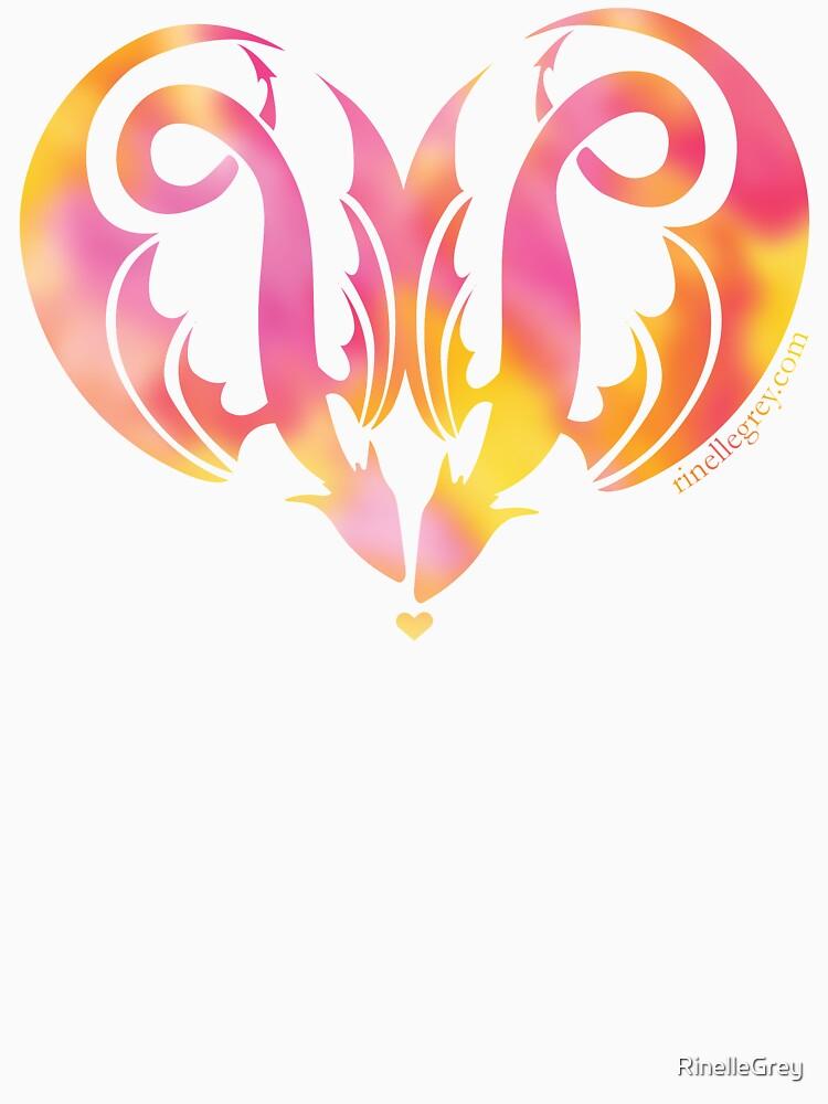 Dragon Love - Pinks by RinelleGrey