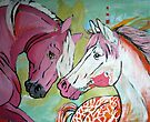 The Pink and White Horse by Juhan Rodrik