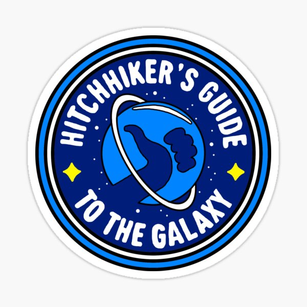 hitchhiker's guide sticker Sticker