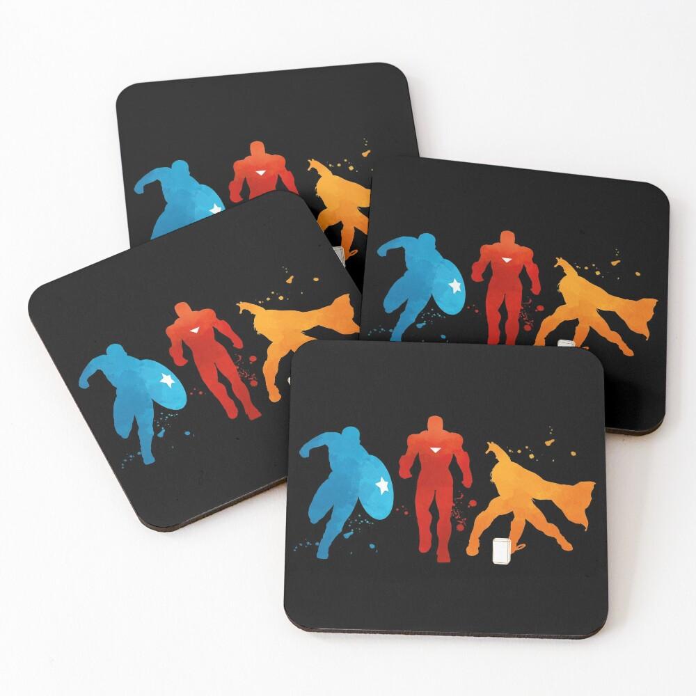 Heroes Painting Coasters (Set of 4)