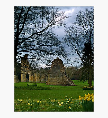 Glastonbury Abbey In Somerset, England. Photographic Print