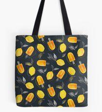 Frische Zitronen und gefrorene Pops Tote Bag