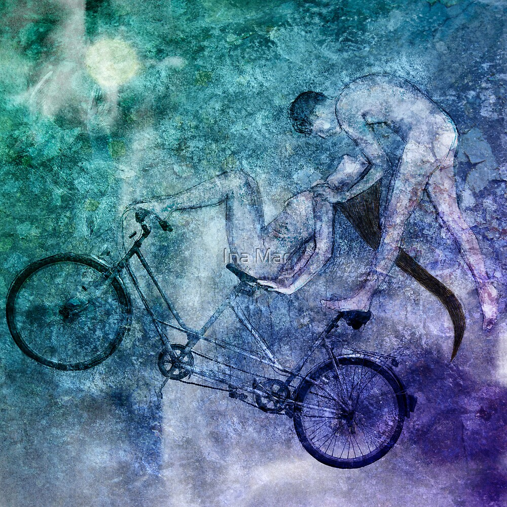 Tandem Bike Lucid Mutual Dreaming by Ina Mar