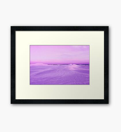 Lancelin Sand Dunes At Dusk  Framed Print