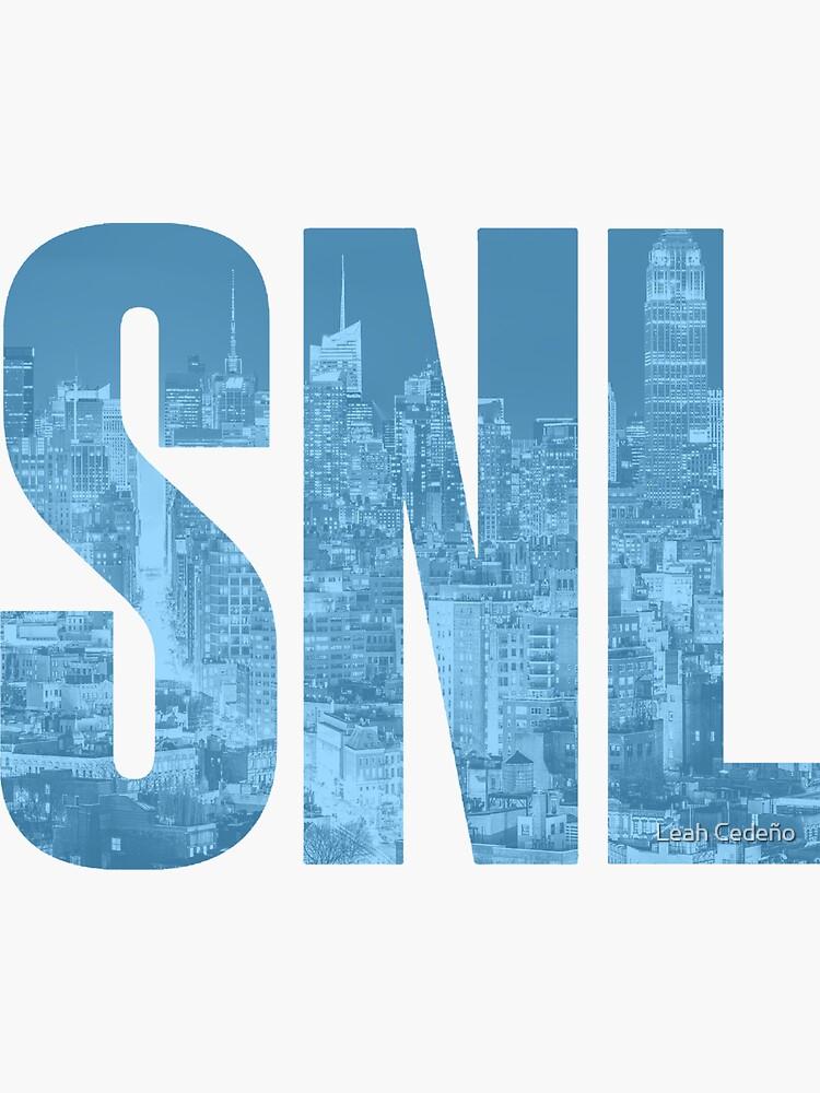 SNL LOGO CITY - BLUE by lee-uh-lee