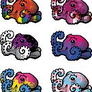 LGBT Octopi stickers (sheet 1) by blockmind