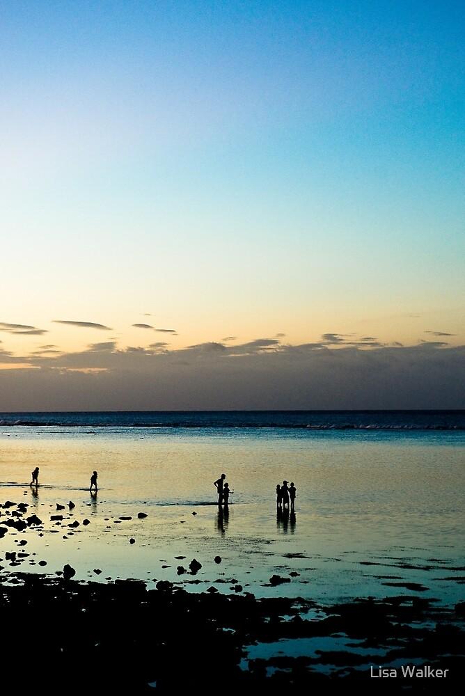 Sunset over the beach at Com, Timor-Leste by Lisa Walker