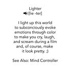 Define Lighter by jctools