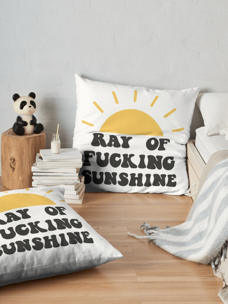 Alternate view of Ray of fucking sunshine Floor Pillow