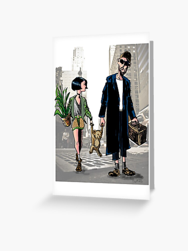 Leon The Professional Fanart Greeting Card By Queirozestudio Redbubble