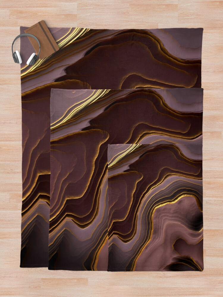 Alternate view of Mauve Agate Abstract Throw Blanket