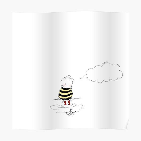 Missing You Bee Poster