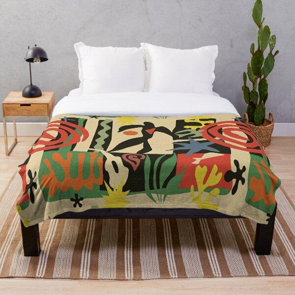 Inspired by Matisse (Vintage) Throw Blanket