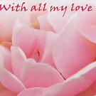 With All my Love -Rose Greeting Card by sarnia2