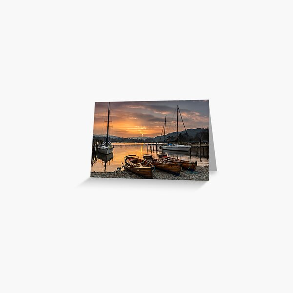 Waterhead Sunset Greeting Card