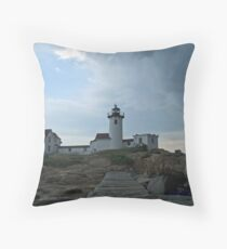 Eastpoint Lighthouse, Incoming Storm! Throw Pillow