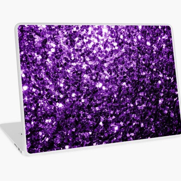 Beautiful Dark Purple glitter sparkles Laptop Skin