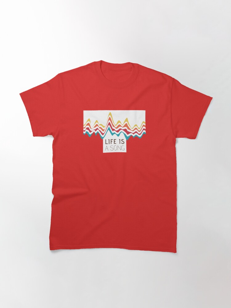 Alternate view of rainbow ecg mountains Classic T-Shirt