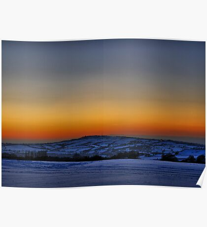 Sunset Over Home Poster