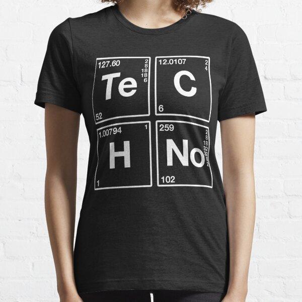 Techno Music Periodic Chemical Elements Camiseta esencial