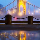 Foggy Reflection of Clemente Bridge by carlacardello