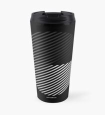 Stripes can be in a disc Travel Mug