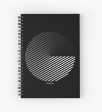 Stripes can be in a disc Spiral Notebook