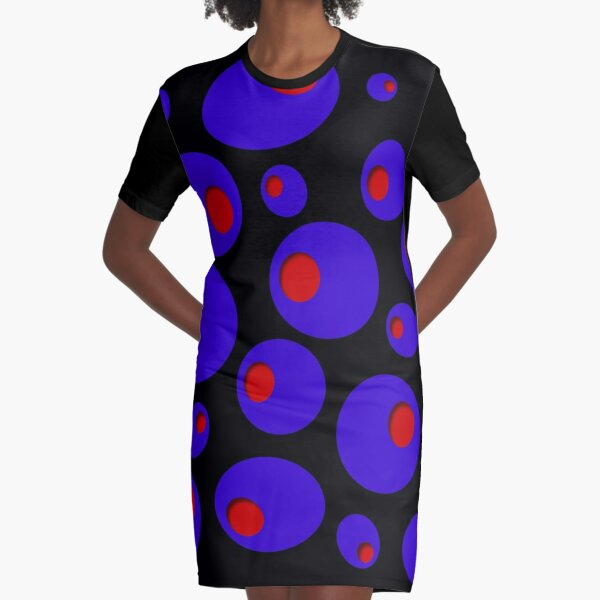 Blue Olives & Red Pimentos Graphic T-Shirt Dress