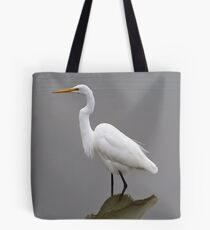 Regal Great White Egret Tote Bag