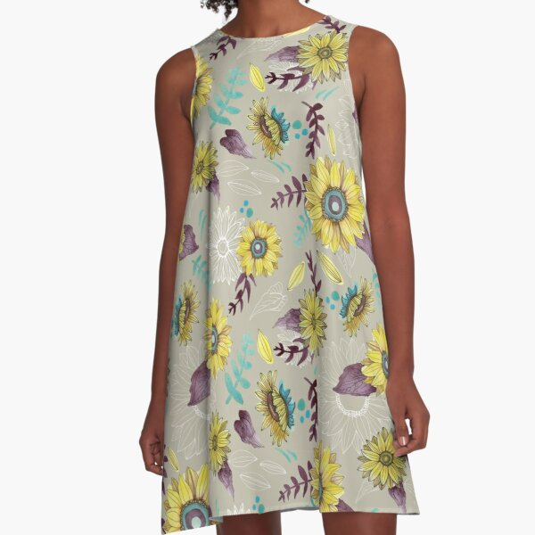 Sunflower Garden A-Line Dress